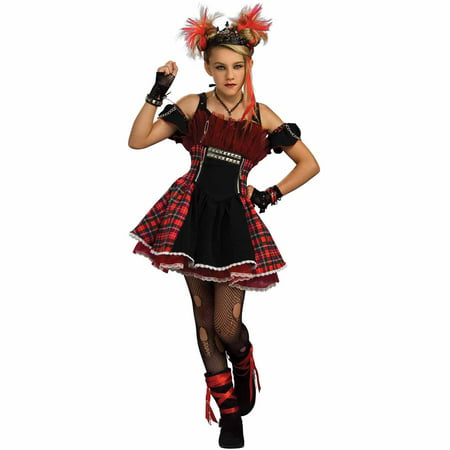 Punk Ballerina Teen Halloween Costume - 80s Punk Rocker Costume