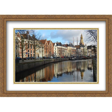 Netherlands Warehouses 2x Matted 38x28 Large Gold Ornate Framed Art Print by The Cityscape Art Print (Frame Warehouse Coupon)