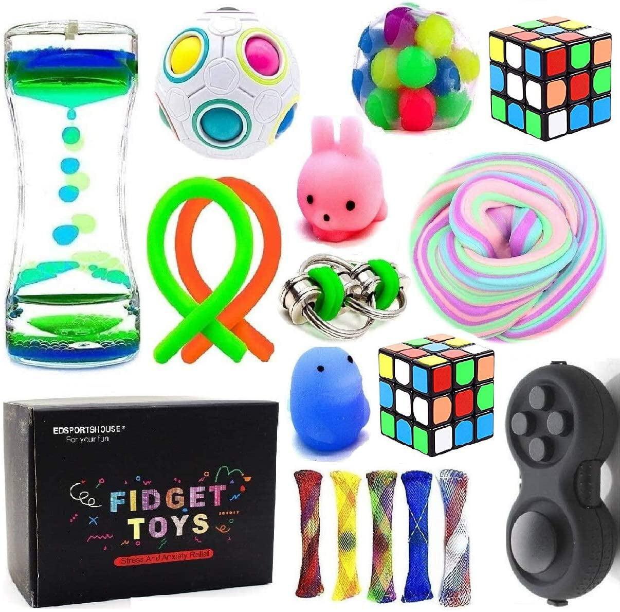 Sensory Fidget Toys Bundle-DNA Stress Relief Balls with ...