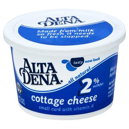 Alta Dena 2 Milkfat Small Curd Cottage Cheese 16 Oz Walmart Com
