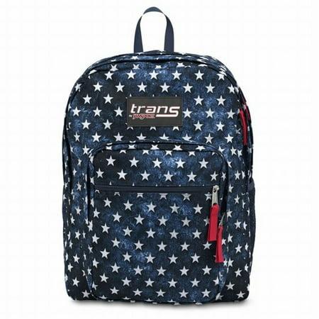 Trans 17 Supermax Blue Stars Backpack Sport School Travel Pack