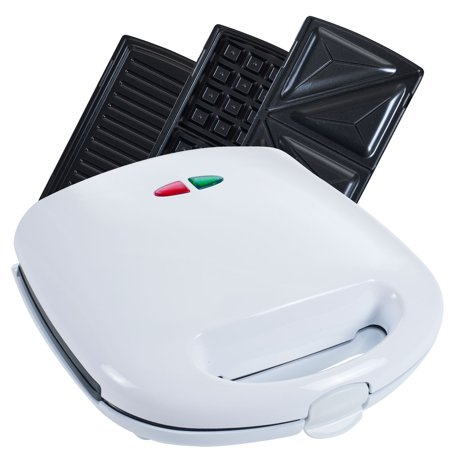 3-in-1 Panini Press (Nonstick Grill, Waffle Maker and Gourmet Sandwich Maker) By Chef Buddy ()