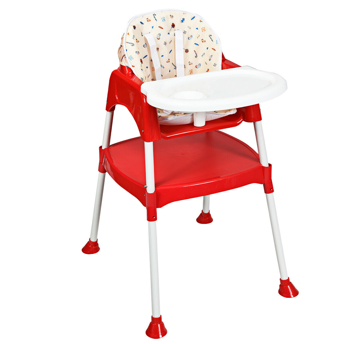 Costway 3 in 1 Baby High Chair Convertible Table Seat Booster Toddler Feeding Highchair by Costway