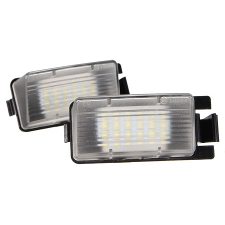 2pcs Rear LED Plate Light Number License Lamp Bulb White 12V For Nissan Nissan Infiniti 350Z 370Z GT-R Infiniti G35 G37