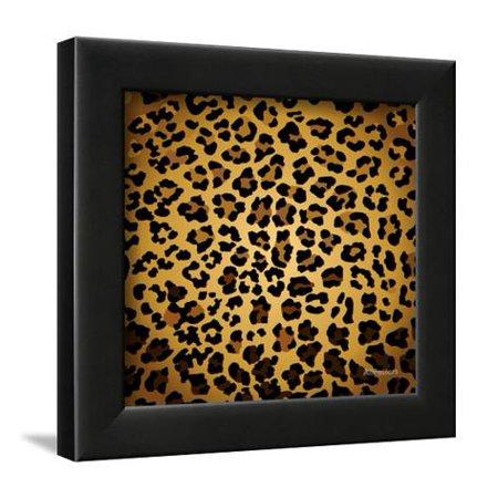 Leopard Print Framed Art Print Wall Art By Sonet999 - Walmart.com