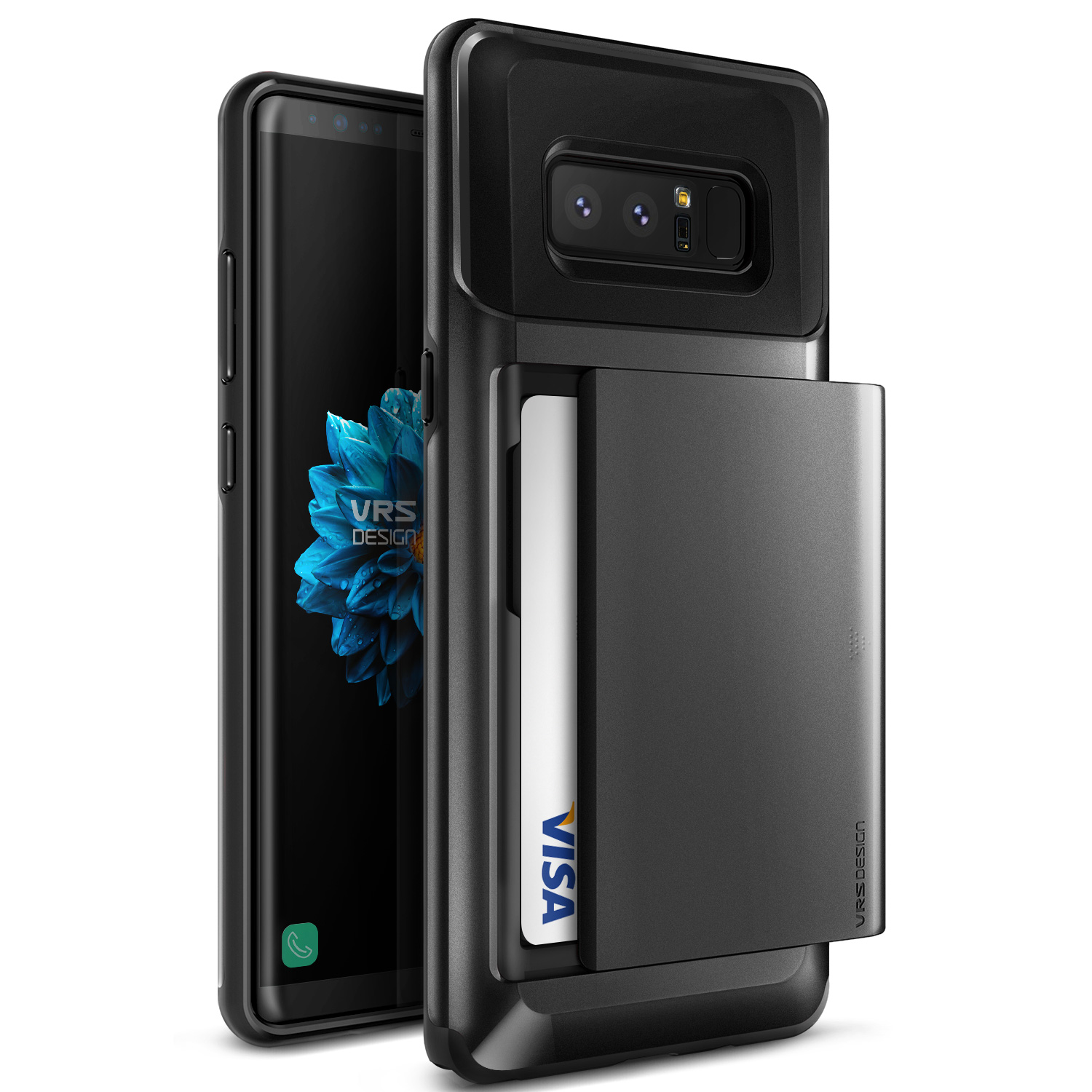 Samsung Galaxy Note 8 Case, VRS Design [Damda Glide] Protective Wallet Cover with Card Slots