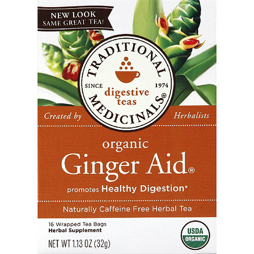 Traditional Medicinals Organic Ginger Aid Caffeine Free Herbal Tea, 1.13 oz, (Pack of 6)