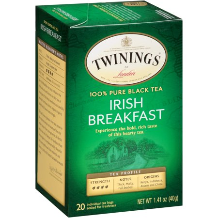 (2 Boxes) Twinings of Londonî Irish Breakfast 20 ct Tea Bags 1.41 oz. Box