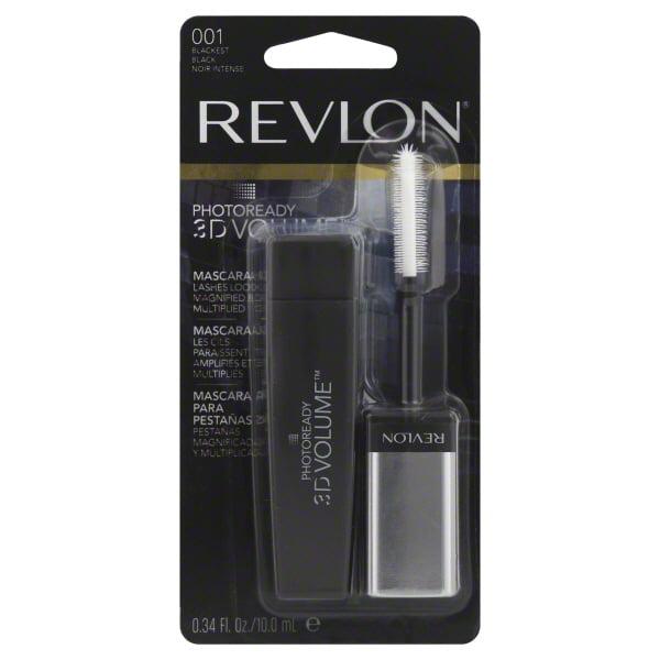 Revlon PhotoReady 3D Volume Mascara, 001 Blackest Black, .34 fl oz