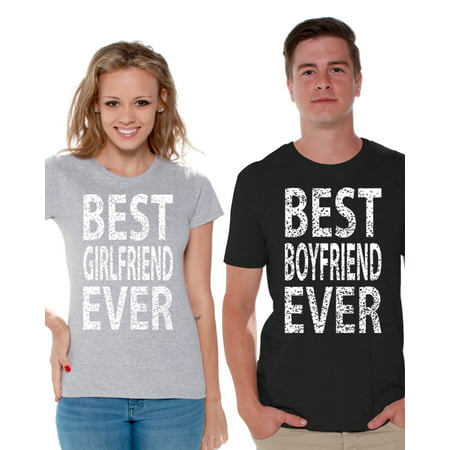 Awkward Styles Girlfriend Boyfriend Couples Shirt Matching Couple Shirts Best Girlfriend Ever Best Boyfriend Ever Tshirts for Couples Cute Couple Shirts for Boyfriend and Girlfriend on Valentine's