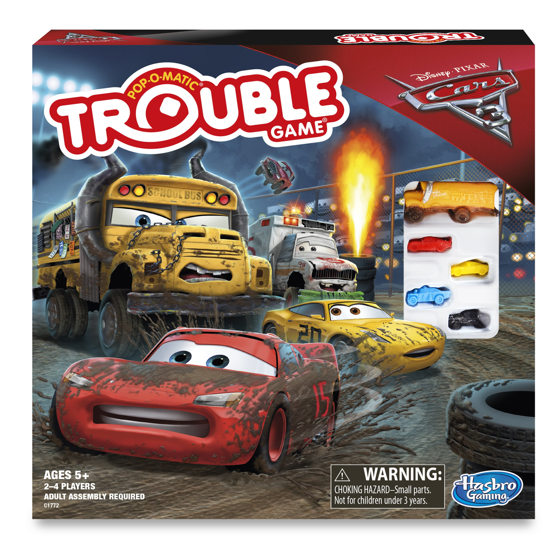 Trouble Game: Disney Pixar Cars 3 Edition by Hasbro Inc