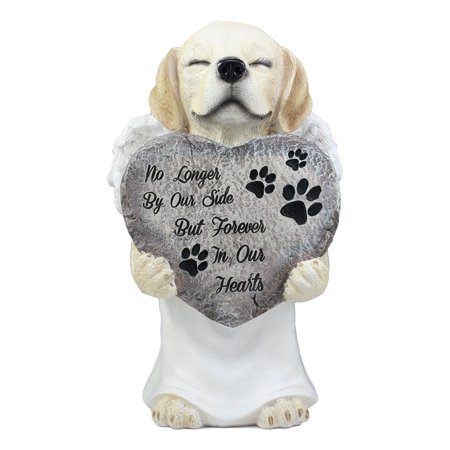 Ebros Heavenly Angel Labrador with White Tunic Pet Memorial Statue 11