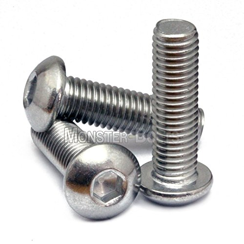 1//4-20 X 1//4 AISI 304 Stainless Steel 10pcs Hex Socket Drive Button Head Socket Cap Screws 18-8 Aspen Fasteners