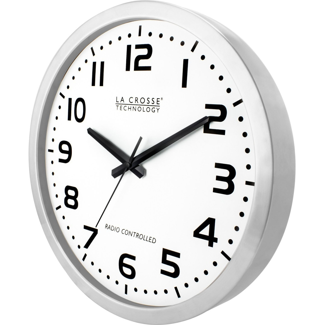 "La Crosse Technology Wt-3161wh 16"" Brushed-metal Atomic Wall Clock"