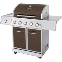 Dyna-Glo DGE530BSP-D 5-Burner LP Gas Grill with Side Burner (Bronze)