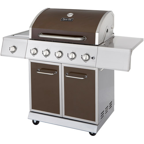 Dyna-Glo DGE530BSP-D 5-Burner LP Gas Grill with Side Burner