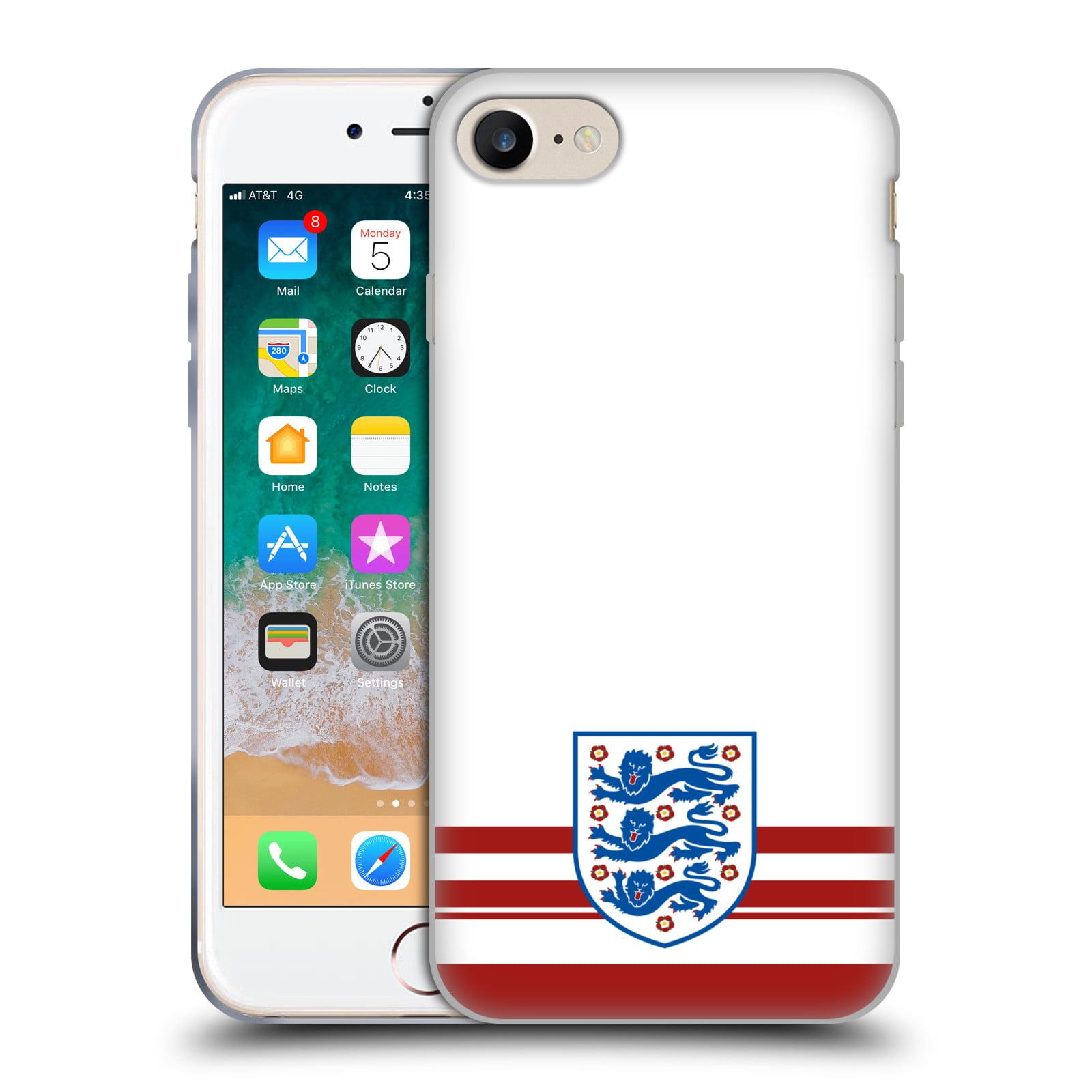 sale retailer f6af2 0bc2d OFFICIAL ENGLAND FOOTBALL TEAM 2018 CREST SOFT GEL CASE FOR APPLE IPHONE  PHONES