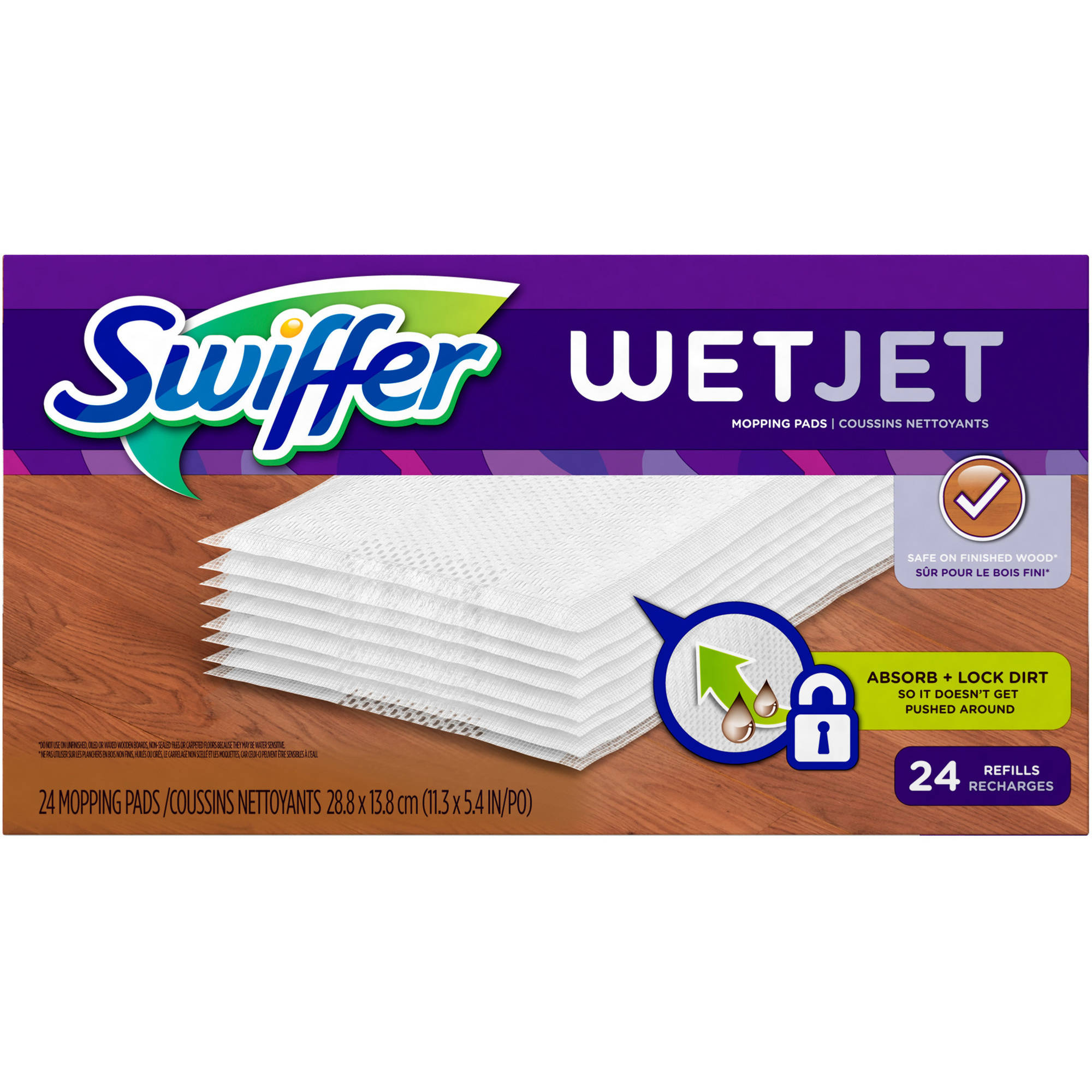 Swiffer WetJet Hardwood Floor Spray Refills, 24 count