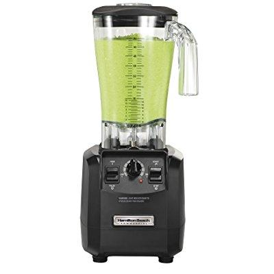"Hamilton Beach Commercial HBH550 The Fury Blender, 3 hp, 2 Speeds, Pulse, 64 oz./1.8 L Cutter Assembly Polycarbonate Container, 18.04"" Height, 8.89"" Width, 8.07"" Length, Black"