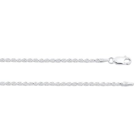 ZilverZoom Sterling Silver .925 Rope Necklace Chain 1.5mm Thick, 18