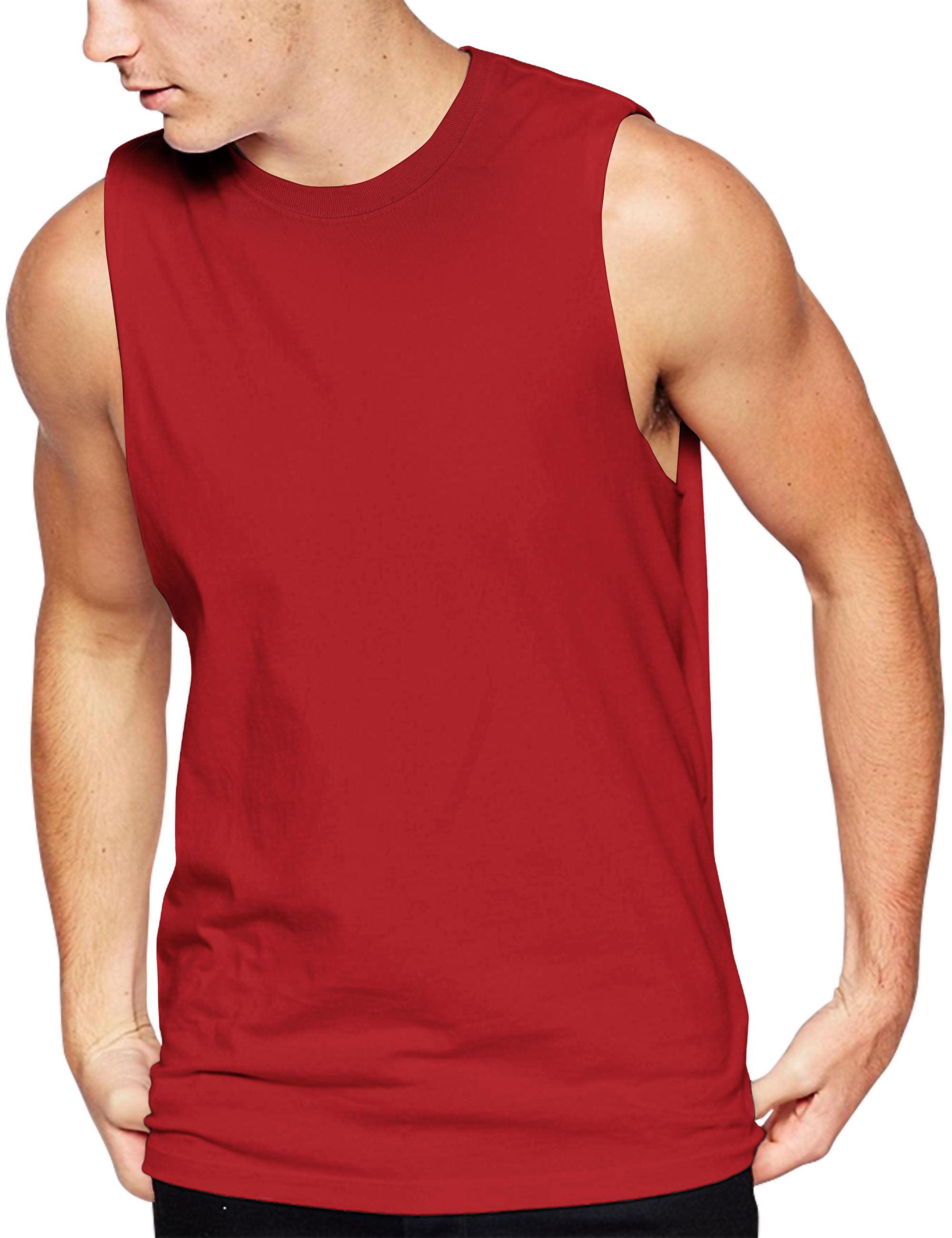 Men's Sleeveless Tee Shirts Muscle Gym Tank Top