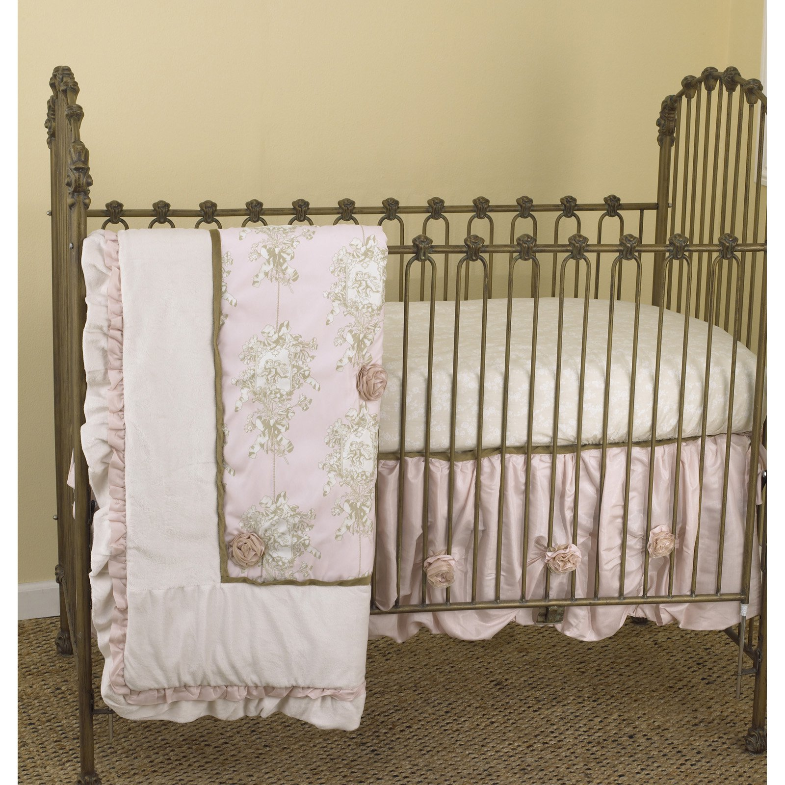 Cotton Tale Designs Lollipops and Roses 3 Piece Crib Bedding Set