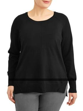 31dfeba9a428 Women s Plus-Size Cardigans and Sweaters - Walmart.com - Walmart.com