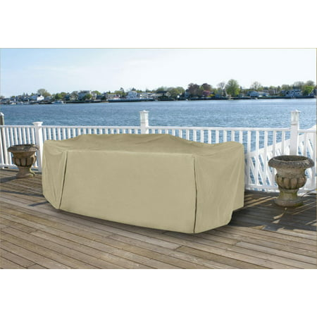 durable full vinyl premium outdoor round patio full set cover khaki