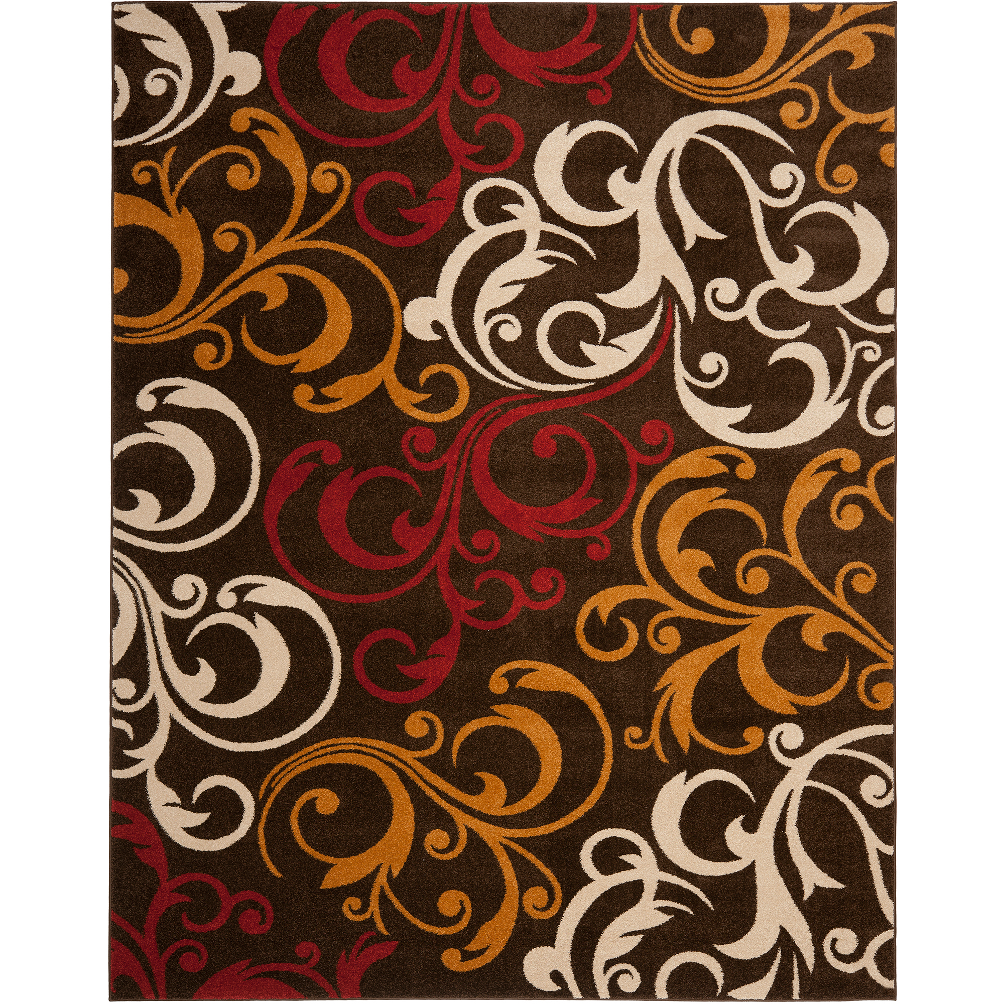 Safavieh Newbury Amala Power Loomed Area Rug, Brown and Gold