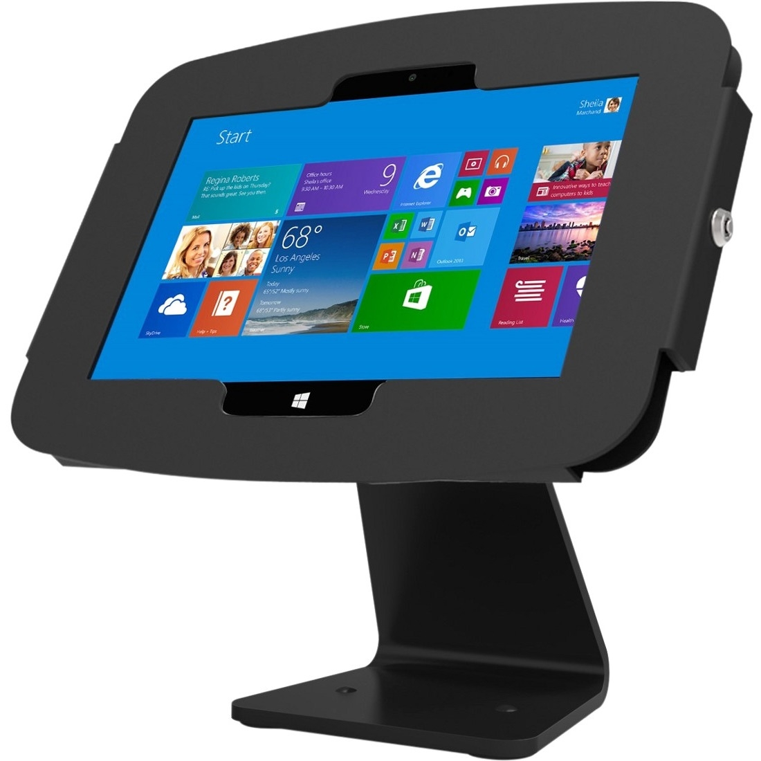 Compulocks Space Surface Tablet Enclosure 360 Kiosk - Surface Kiosk - Surface Pro Enclosure - Black (303b540geb)