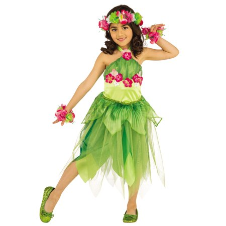 Hawaiian Dancer Girls Luau Fairy Child Halloween Costume](Hawaiian Costume)