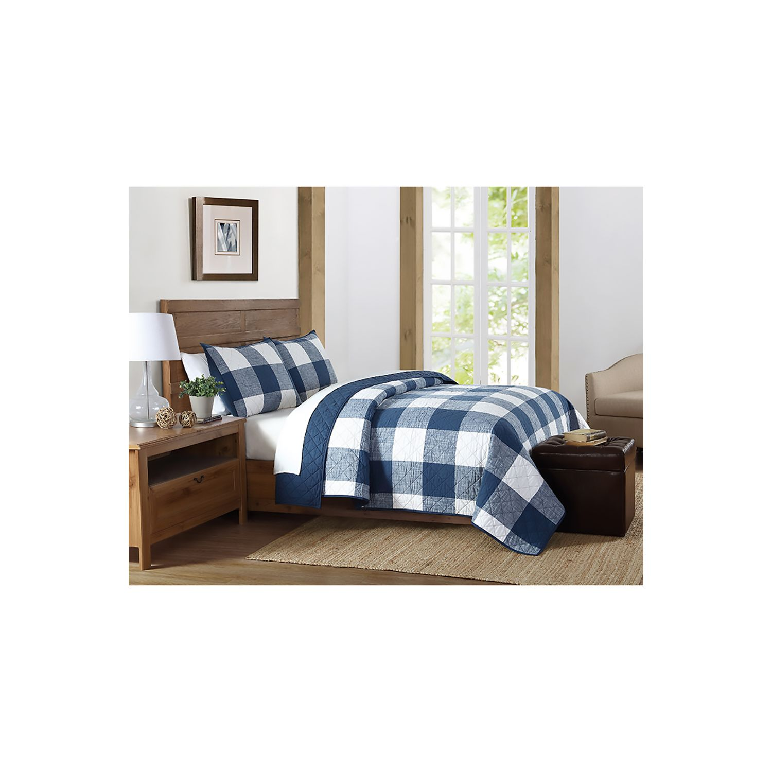 bedding shipping bath cover duvet printed overstock today comforter plaid everyday product set buffalo soft free truly check
