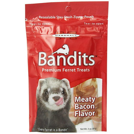 - Marshall Pet Bandits Ferret Treat, Meaty Bacon, 3oz (Free Shipping)