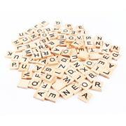 LYUMO 100pcs Early Educational Tiles Letters Alphabet Wooden Pieces Numbers Pendants Spelling Kids Children Toy