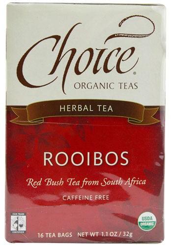 Choice Organic Teas Rooibos Red Bush Tea Caffeine Free 16 Tea Bags by Choice Organic