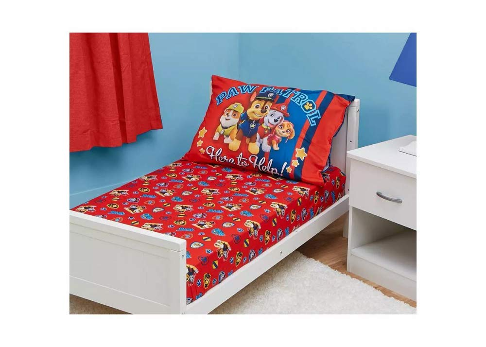 PAW Patrol 2 Piece Toddler Sheet Set ( Fits Toddler Bed ...