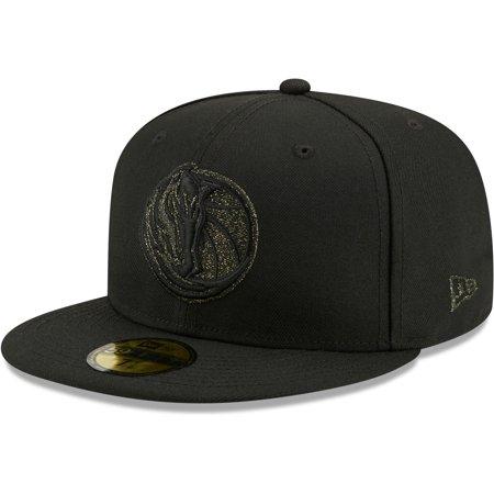 Dallas Mavericks New Era Logo Spark 59FIFTY Fitted Hat - Black