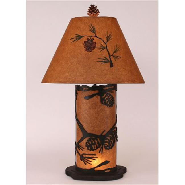 Coast Lamp Manufacturer 15-R4C Kodiak Small Pine Cone Table Lamp with Night Light - 30 in.