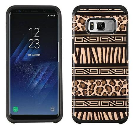 Dual Pocket Zebra - Samsung Galaxy S8 PLUS Phone Case Slim Tuff Hybrid Astronoot Rubber Silicone Shockproof Dual Layer Hard TPU Rugged Case Thin Cover - Zebra Leopard Cheetah Skin