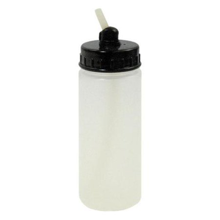 1 Plastic 2.7oz 80cc Airbrush Bottle Jar Cup Lid Adapter Dual-Action Siphon Feed