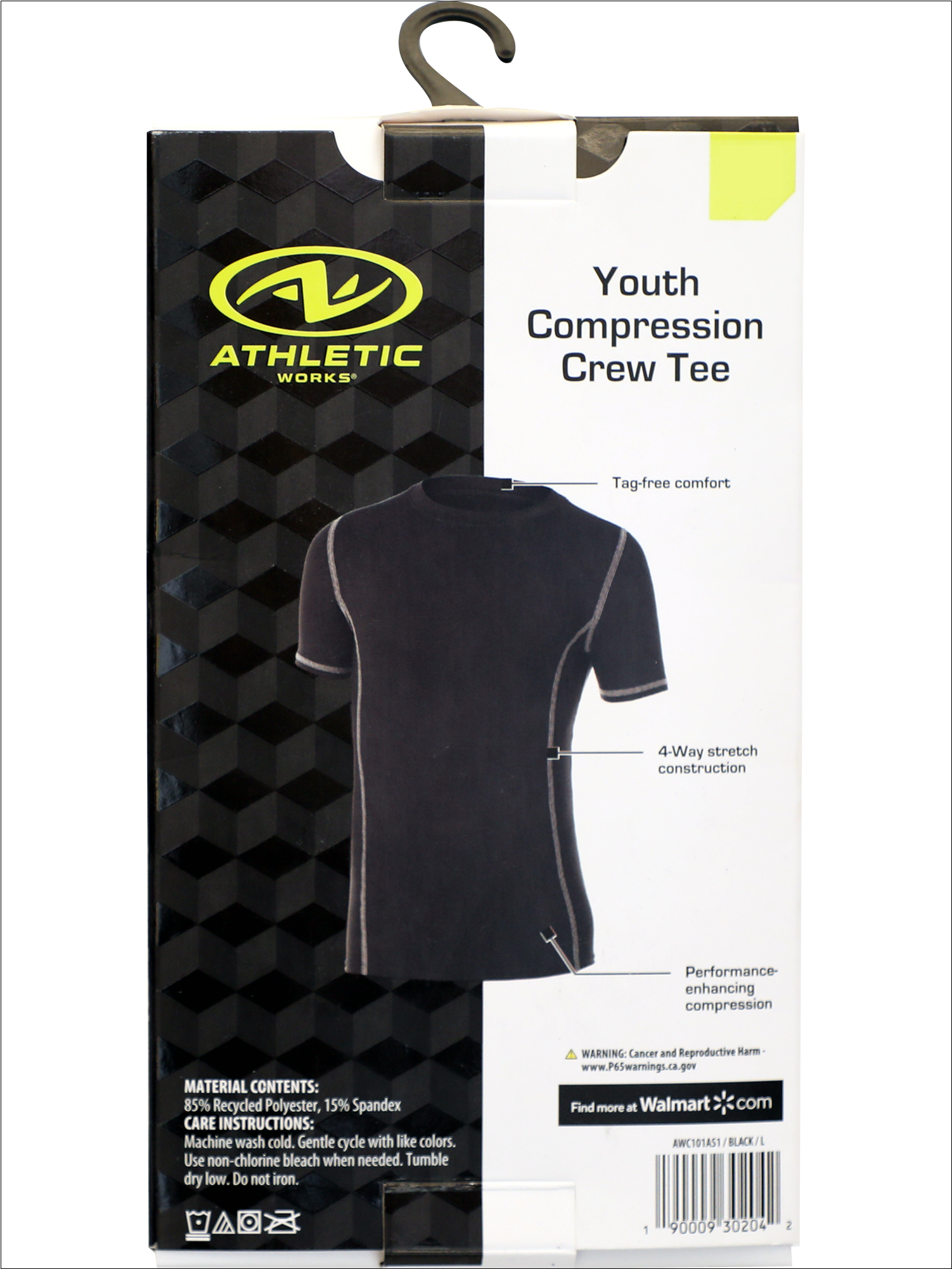 Details about  /athletic works Youth Compression Shorts Medium Black  New In Box