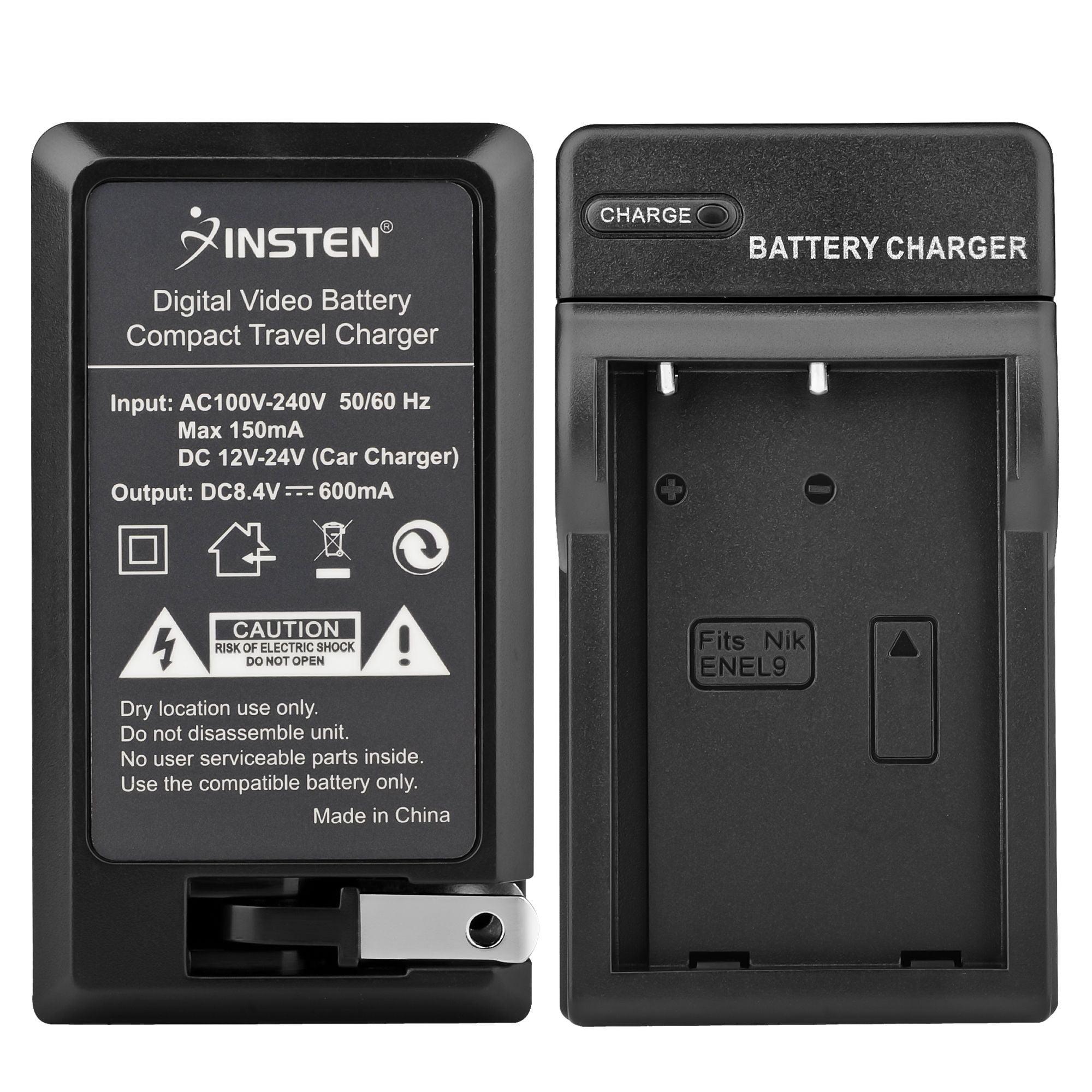 Insten Compact Battery Charger Set For Nikon EN-EL9