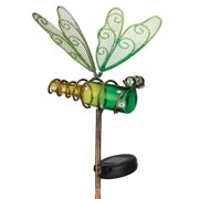 "Regal Art  and  Gift 11241 - 18.5"" x 8.5"" Mini Dragonfly Garden Stake Solar LED Light"