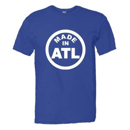 PleaseMeTees™ Mens From Born Made In Atlanta GA Logo Label Tag HQ (Avalon Atlanta Ga)