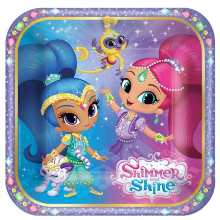 Small Paper Plates (8ct) By Shimmer and Shine - Shine Paper