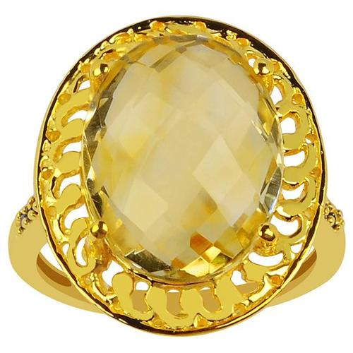 Orchid Jewelry Mfg Inc Orchid Jewelry Sterling Silver 10k Yellow Gold Overlay 7 1/2 TGW Citrine Birthstone Ring