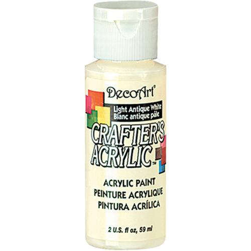 Crafter's Acrylic Gloss All Purpose Paint 2 Ounces-Light Antique White