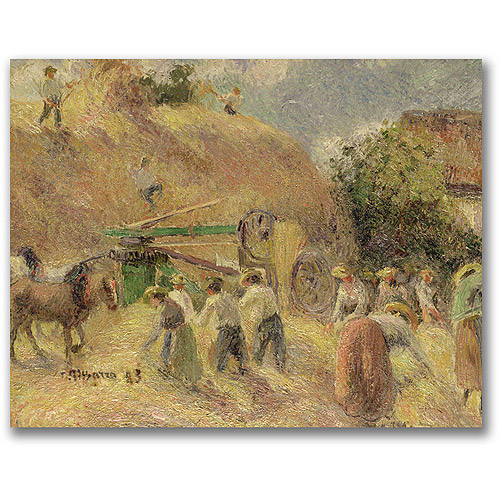 """Trademark Fine Art """"The Harvest"""" Canvas Wall Art by Camille Pissaro"""