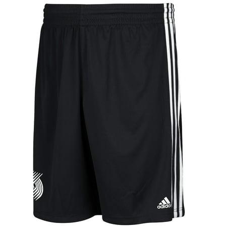 Adidas Portland Trail Blazers Tip Off One Color Logo Shorts (Black) by