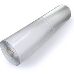 Plastic Poly Sheeting 20 Feet X 100 Feet, True 10 Mil, Transparent/White, Incredibly Durable, Top Visqueen Plastic